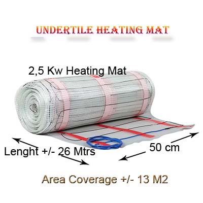 Floor Heating Mat Coverage 12 M2- 2,5 kw