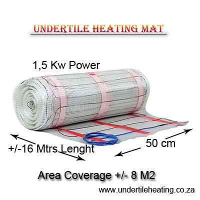 Floor Heating Mat for Tiles 1,5 Kw Power