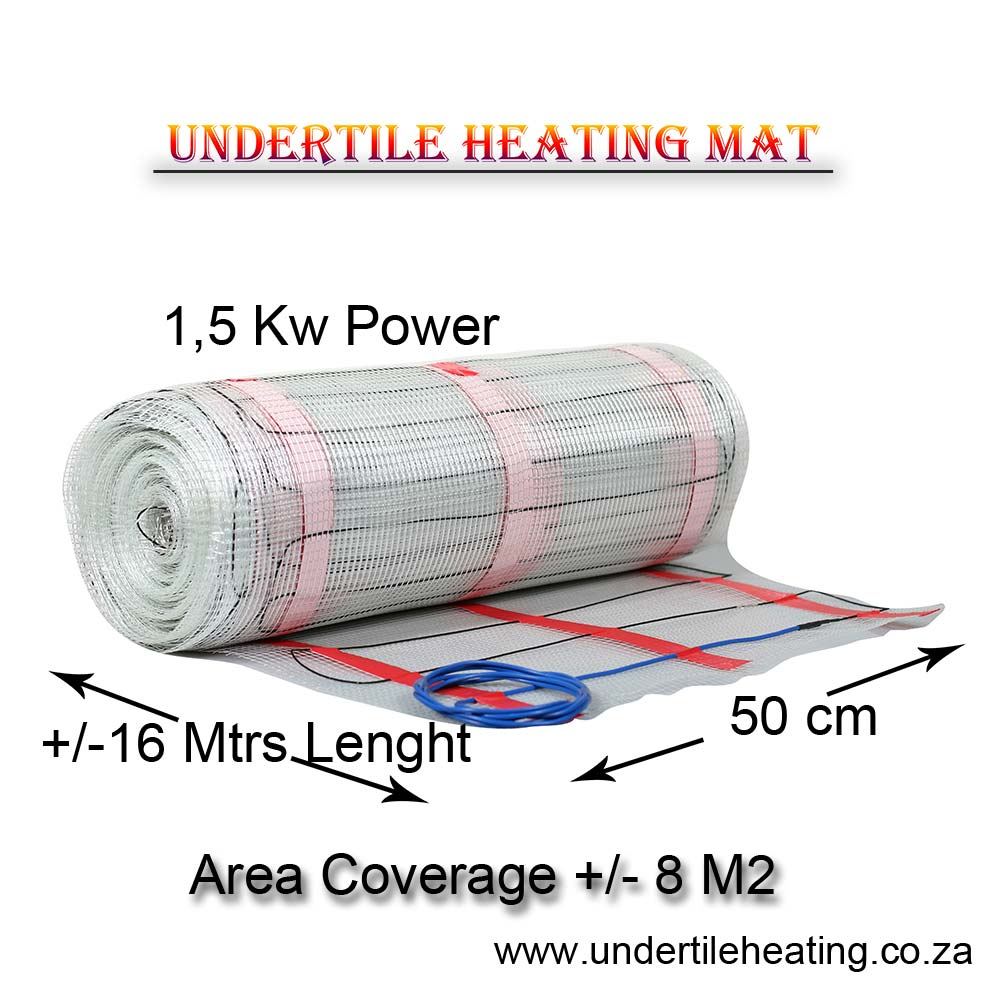 Floor Heating Mat for Tiles 1,5 Kw