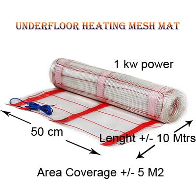 Floor Heating Mesh Mat 1 kw Power