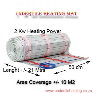 Heating Mat Coverage 10 M2 - 2 kw