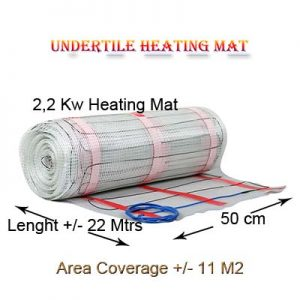Tiles Heating Mat 2,2 Kw Power