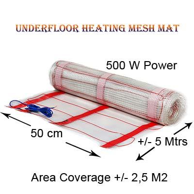 Underfloor heating mat 500w Power