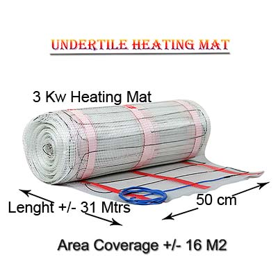 Heater mat coverage 16 M2 - 3kw