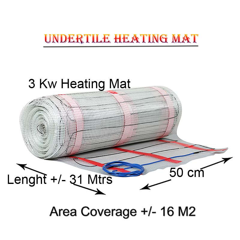 Heater mat coverage 16 M2