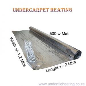 Undercarpet Heating 500w  2×1,2 Mtrs