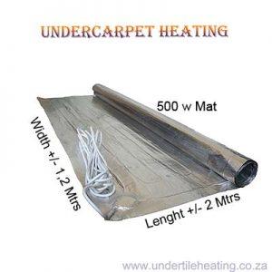 Undercarpet Heating 500w  2×1,2 Mtrs