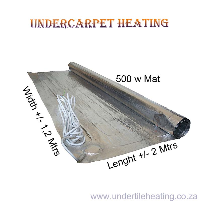 Undercarpet Heating 500w 2x1,2 Mtrs