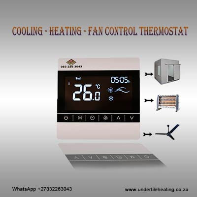 Cooling - Heating - Fan Control Thermostat 5 Amps