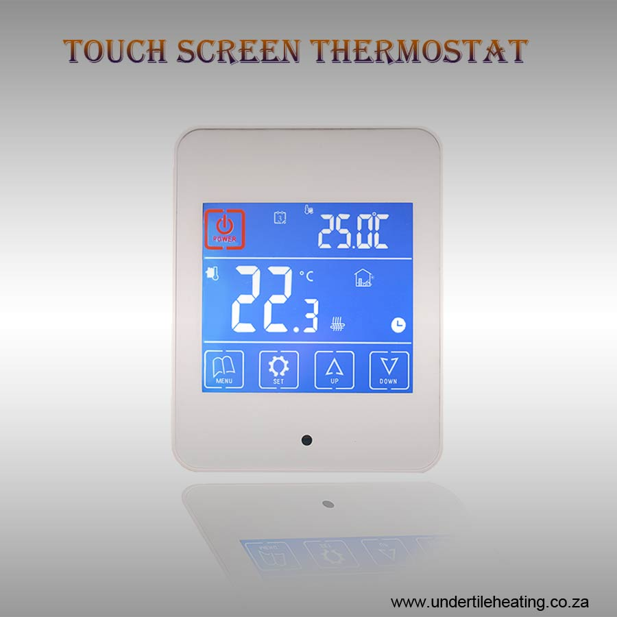 Touch Screen Thermostat - White